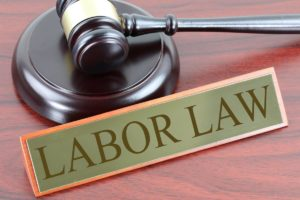 Gavel and a Labor law plaque