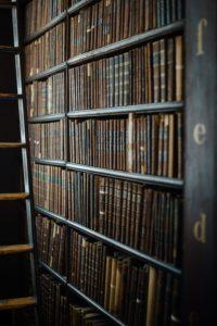 library shelf full of law books
